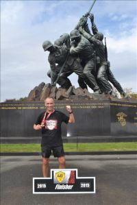 Loved getting my medal by this incredible memorial